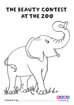 Elephant colouring sheet
