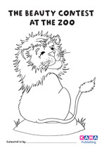 Lion colouring sheet