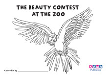 Parrot colouring sheet